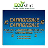 Ecoshirt M9-PP3R-MG02 Pegatinas Stickers Cuadro Frame Cannondale Scalpel Am26 Aufkleber Decals Adesivi Bike BTT MTB Cycle, Gold