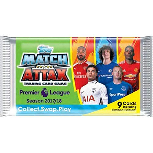 Topps Match Attax - Premier League 2017/18 - Display mit 50 Booster - Nordic Edition