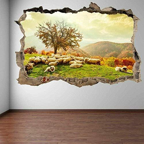 MXLYR Wandtattoo Sheep Plants Trees Autumn Landscape Wall Stickers Mural Decals Children S Room