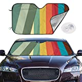 mchmcgm Sonnenschirm Abdeckung Rainbow Auto Windwhield Sun Shades Universal Fit 51.2 X 27.6 Inch Window Keep Your Vehicle Cool Visor for SUV Sunshade Cover