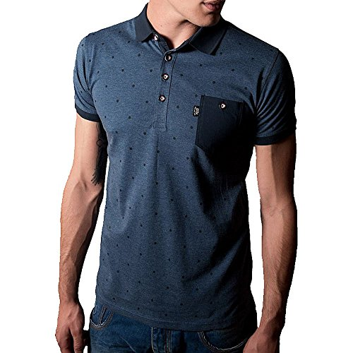 """Police 883 Radd Polo Shirt   Eclipse Navy Large [4] 40"""" Chest Navy"""