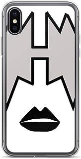 Quannaus Compatible con iPhone XR Funda TPU Transparente Anti- Choques y Anti- Arañazos Cajas del Teléfono Cover Ace Frehley from Kiss Band, Spaceman Makeup