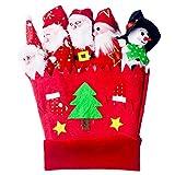 Fascigirl Guantes De Fiesta Guantes De Disfraces Decoración De Dibujos Animados Marioneta De Dedo Para Navidad