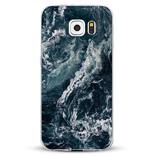 Pacyer kompatibel mit Galaxy S7 / S7 Edge Hülle Silikon TPU Handyhülle Liquid Crystal Clear Case Transparent Feather Design Premium Scratch Resistant Anti-Shock Cover (4, Galaxy S7)