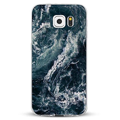 Pacyer kompatibel mit Galaxy S7 / S7 Edge Hülle Silikon TPU Handyhülle Liquid Crystal Clear Case Transparent Feather Design Premium Scratch Resistant Anti-Shock Cover (4, Galaxy S7 Edge)