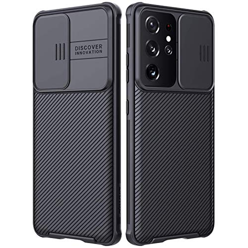 Galaxy S21 Ultra Case with Camera Cover,S21 Ultra Slim Fit Thin Polycarbonate Protective Shockproof Cover with Slide Camera Cover, Upgraded Case for Samsung Galaxy S21 Ultra (S21 Ultra/S21 Ultra 5G)