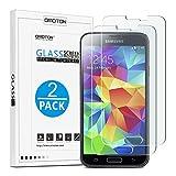 [2-Pièces] Samsung Galaxy S5/S5 Neo [5.1 Pouces] Clair Film Protection D'écran En Verre Trempé...