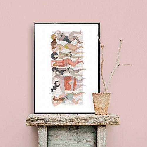 Mooneki Lámina Poster Decorativo Basq 50x70. Edición Limitada. Diseño Exclusivo, de Autor. Estilo Moderno, nórdico, contemporáneo.
