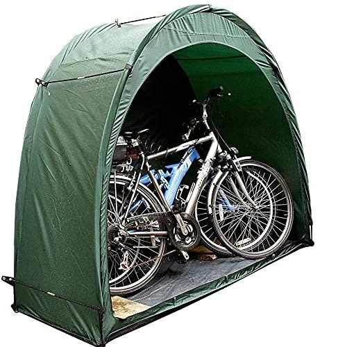 Tente de vélo de Rangement Pliable, abri de Rangement de vélo étanche extérieur Portable, abri de Rangement d'outils de Piscine de Jardin de pelouse (Vert, Tente de vélo)