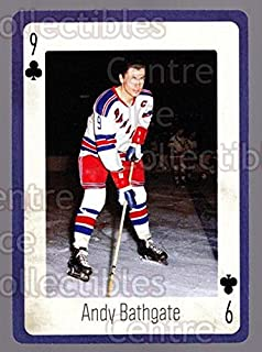 (CI) Andy Bathgate Hockey Card 2005 New York Rangers Legends Playing Card 35 Andy Bathgate