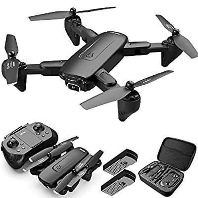 4DRC F6 Drone with Camera for Adults and Kids, Drone with WiFi FPV 1080P HD Camera,Remote Control Quadcopter,Auto Hover,Voice/Gesture Control,3D Flip,Headless Mode,Gravity Control,2 Batteries