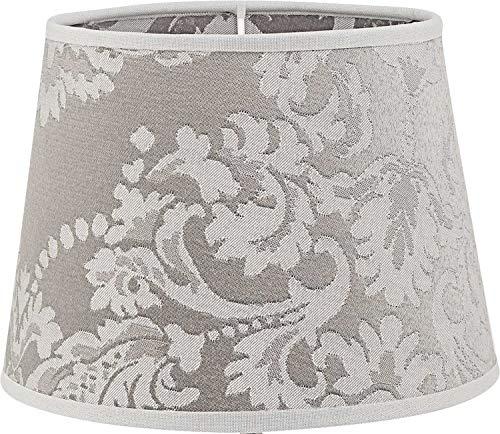Kleine lampenkap zilver met barok patroon voor E14 tafellamp stoffen bedlamp lampenkap