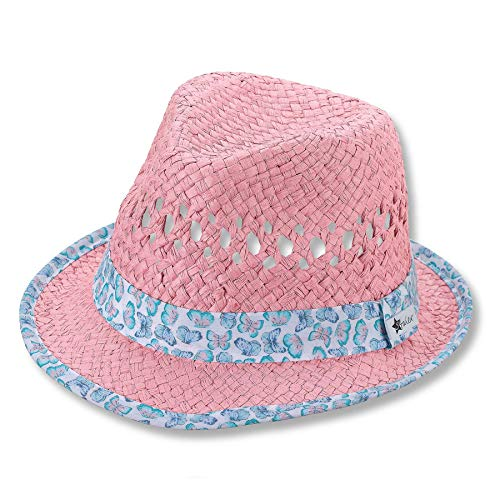 Sterntaler Mädchen Strohhut 1412180 Hut, rosa, 55 EU