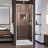 DreamLine Flex 32-36 in. W x 72 in. H Semi-Frameless Pivot Shower Door in Chrome, SHDR-22327200-01