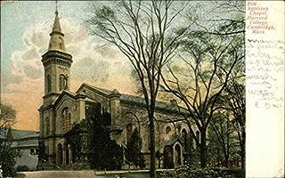 Appleton Chapel, Harvard College Cambridge, Massachusetts Original Vintage Postcard