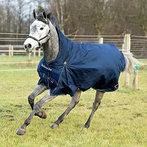 HORZE Avalanche Pro leichte Weidedecke Regendecke für Pferde, 1200D für den Einsatz bei Regen oder mildem Wetter, Blau, 155