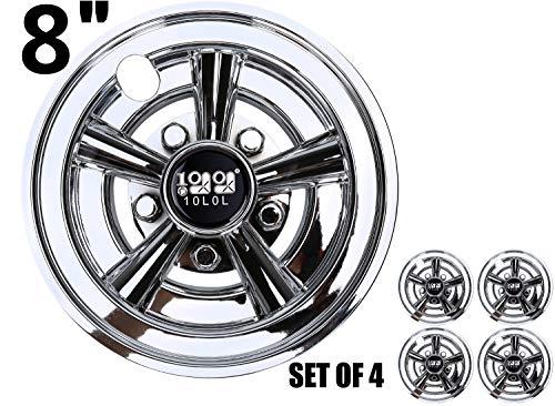 10L0L Golf Cart 20,3 cm Radkappen Radabdeckungen Set von 4 – passend für EZGO, Club Car, Yamaha, Golf Car Nabenkappen Golf Cart Radkappen Golf Cart Radabdeckungen, Zubehör für Golfwagen