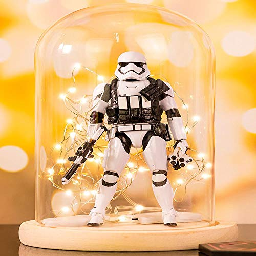 Action Figure Star Wars 9: Black Warrior Modell Bewegliche Gelenke Puppe Toy Collection Zeichentrickfigur Modell Statue Dekoration -Kinder Gifts + Lampenschirm -15cm B
