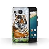 Stuff4 Coque de Coque pour LG Nexus 5X / Tigre Design/Animaux Sauvages Collection