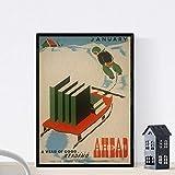 Vintage Poster Nacnic. Poster Bibliothek. Verwenden Sie die