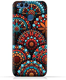 Huawei Honor 7X TPU Silicone Protective Case with Geometrical Madalas Pattern