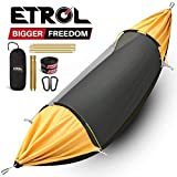 ETROL Hammock, Upgrade Camping Hammock with Mosquito Net, 3 in 1 Blackout Design Aluminium Portable Hammock Tent for Backyard, Traveling, Hiking, Beach and Other Outdoor Activities
