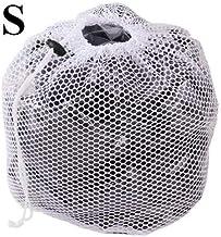 S-XL Large Drawstring Bra Underwear Laundry Bag Household Cleaning Washing Machine Mesh Bag White (Color : S)