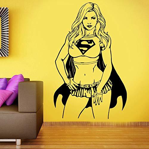 yaonuli TV meisje woonkamer muur stickers vinyl home decoratie verwijderbare interieur tiener behang