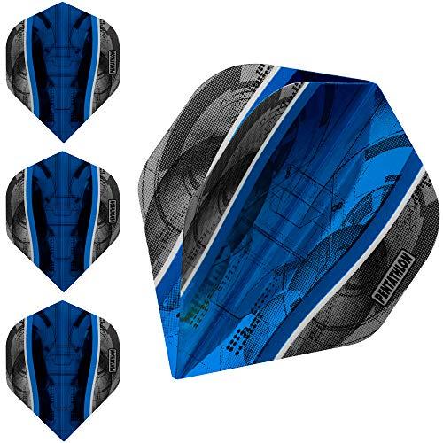 ABC Darts Flights Pentathlon - Science - Blau Cyan - 10 sätz (30 stück Dart Flights)