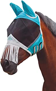 Shires Fine Mesh Fly Mask with Nose Fringe,