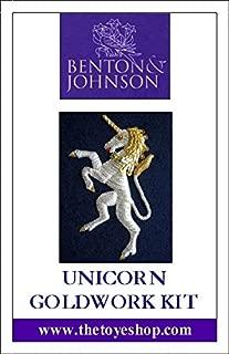 Unicorn - Goldwork Kit by Benton & Johnson