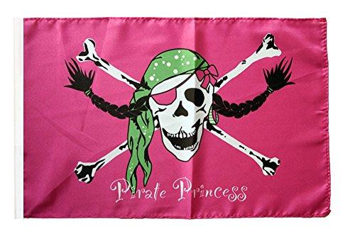 Flaggenfritze® Flagge Pirat Pirate Princess Prinzessin - 30 x 45 cm