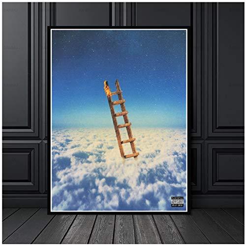 Jackboys Travis Scott, el más alto en la habitación, álbum de música rap, pintura, póster, impresión, lienzo, imagen de pared para la decoración de la habitación del hogar, 50x70 cm sin marco