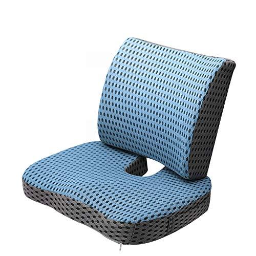 JONJUMP Cojín ortopédico 3D para silla de malla lenta recuperación de espuma viscoelástica silla de oficina, apoyo para la espalda, alivio del dolor del coxis sentado.