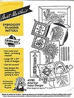 American Indian Designs Aunt Martha's ホットアイロン刺繍 転写