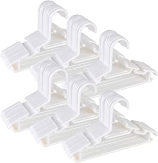 Tosnail 60 Pack White Plastic Children's Hangers - Value Pack for Laundry and Closet