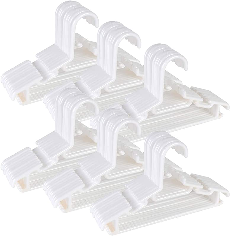 Tosnail 60 Pack White Plastic Children S Hangers Value Pack For Laundry And Closet