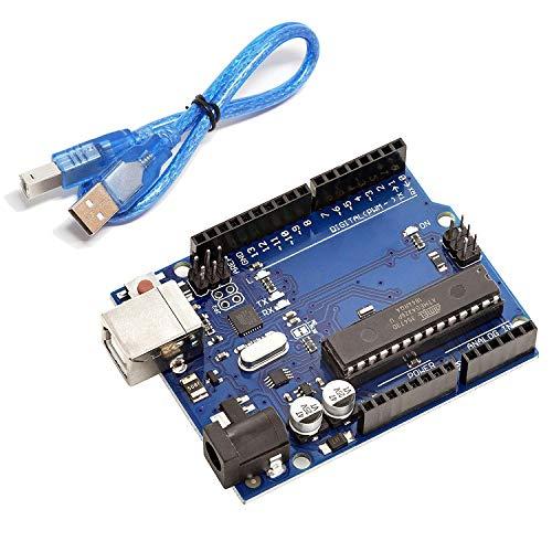 AZDelivery ATmega328P Mikrocontroller Board ATmega16U2 8-bit Entwicklerboard kompatibel mit Arduino UNO R3 Kit mit Hauptplatine und USB-Kabel inklusive E-Book!