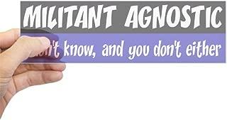 Best militant agnostic bumper sticker Reviews