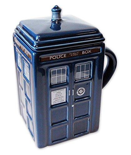 Doctor Who Tasse Tardis aus Keramik mit Deckel