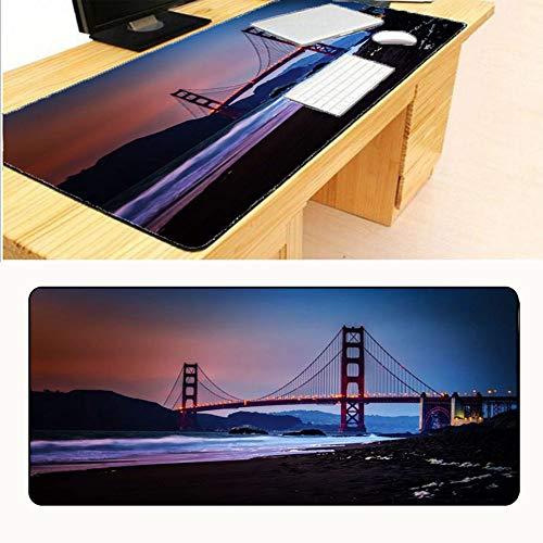 HonGHUAHUI Golden Bridge Big Size rubberen spel muismat laptop computer mat anti-slip mat 400x900X2MM A06