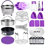 22 Pcs Pressure Cooker Accessories Set Compatible with Instant Pot 5,6,8 Qt, 2 Steamer Baskets, Springform Pan, Stackable Egg Steamer Rack, Egg Bites Mold, Steamer Rack Trivet, Parchment Papers & More