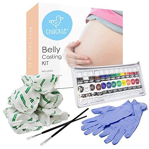 Kit Completo para Impresión 3D de Vientre de Embarazada - Modelado para Barriga Embarazada - Seguro, Rápido y Fácil - Incluye Pintura y Pinceles - Regalo para Futuras Mamás Babyshower Navidad.