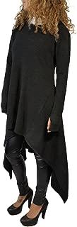 Annystore Women's Solid Irregular Hem Long Sleeve Loose Hoodies Sweatshirts Dress Plus Size