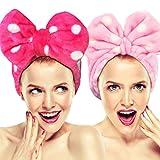 Hairizone - Juego de 2 diademas para la cara, con lazo elástico, para maquillaje, ducha, spa, masaje y deportes