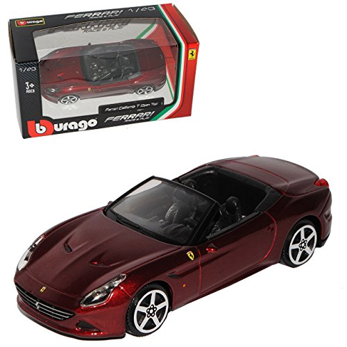 Bburago Ferrari California T Cabrio Dunkel Rot Metallic AB 2015 1/43 Modelo Auto