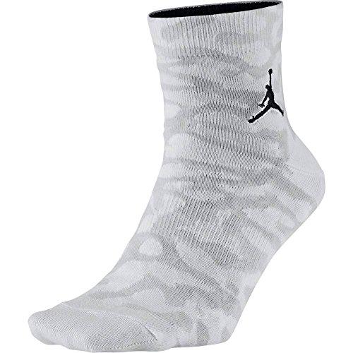 Jordan Socken – Elephant Quarter weiß/grau/schwarz Größe: 46 al 50 EU I 12-15 USA I 11-14.5 UK