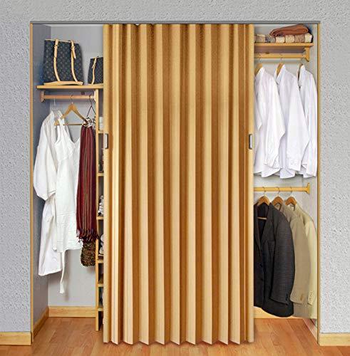 Playcon Puerta Plegable Universal Mediana 88 cm de ancho X 244 cm de altura color Maple. La altura se ajusta recortando la puerta y el ancho se ajusta uniendo 2 o tres puertas.