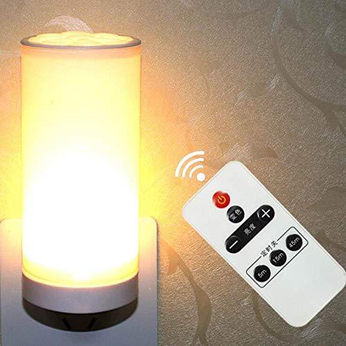YCAZSH Nachtlampje, led-nachtlampje, slaapkamerlamp, wandlamp, wandlamp met 3-kleurige stekker, wandlamp met 3 kleuren