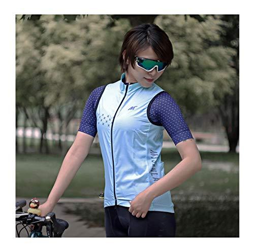 Mysenlan レディース サイクリングベスト ノースリーブ 袖なし 超薄型 防風通気 サイクルウエア スポーツウ...